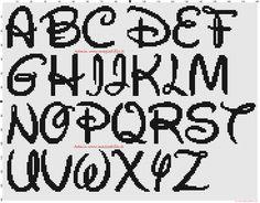 Disney Alphabet 30x30 stitches cross stitch pattern free