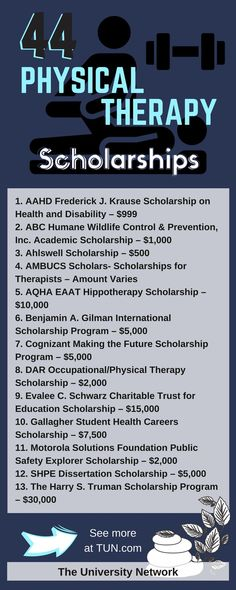 Here is a selection of Physical Therapy Scholarships that are listed on TUN.