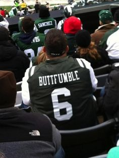 "Jets Fan Breaks Out The Mark Sanchez ""Buttfumble"" Jersey"