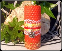 Witch Midsummer Litha Handrolled Beeswax by PaganMagicalCrafts