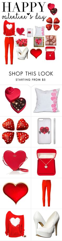 """""""Valentine's Day"""" by gwinnfam ❤ liked on Polyvore featuring Godiva, Kate Spade, Alexa Starr, Versace, Michael Antonio, women's clothing, women, female, woman and misses"""