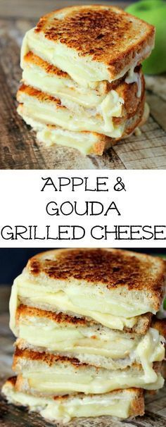 LUNCH TIME!!  Apple & Gouda Grilled Cheese Savory and delicious!