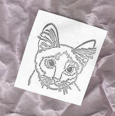 Cat head rubber stamp cat breed Pets Unmounted die Stamping Scrapbooking art #Unbranded #CatspetsFelines