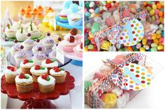 rainbow colorful birthday party 7
