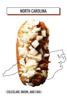 North Carolina has created a beautiful thing: The half coleslaw, half chili, onion-topped hot dog that will forever change your outlook on chili dogs.