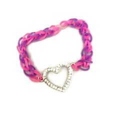 Friendship Bracelet St Valentine Bracelet Rainbow Loom Bands  Rubber Band Bracelet