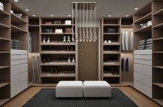Recamara y Vestidor Moderno : Vestidores modernos de Diseñadora de Interiores…