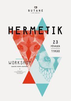 HERMETIK poster design.
