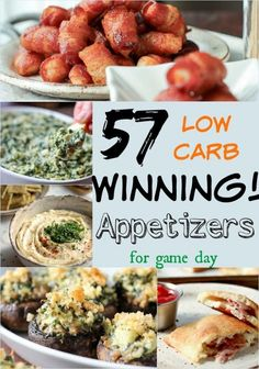 57 GREAT LOW CARB SUPERBOWL APPETIZERS!