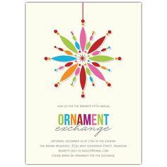 Bright+Ornament+Holiday+Invitations