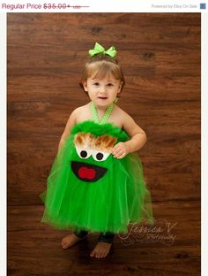 ON SALE NOW Oscar the Grouch Inspired Costume Tutu Dress for Halloween or dress up or birthday door shoppe3130 op Etsy https://www.etsy.com/nl/listing/108066208/on-sale-now-oscar-the-grouch-inspired