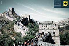 Muro alto não afasta ninguém.E as vezes, atrai mais gente.