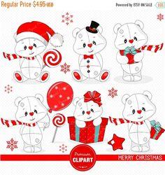 70% OFF SALE Christmas clipart, Christmas teddy clipart, Teddy clipart, Christmas clip art, Christmas digital graphics - SEA111