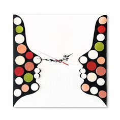 """Deco Twins / Wood wall clock / Geometric mosaic / Original design Liliana Stoica ▀▄ ▀▄ ▀▄ Collection - limited edition - Me and Time When I was a little girl the time would not matter, I was wake up in the morning by the sun and sent to sleep in the evening as well. Now """" I don't have"""