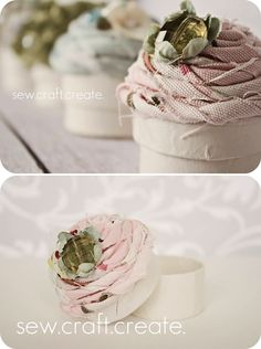 DIY: cupcake gift box. Beautiful for Any gift!  Super easy and adorable
