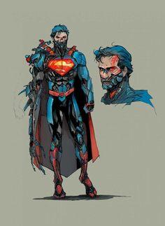Superman Man of Steel Cyborg DC Comics Superheroes Superhero