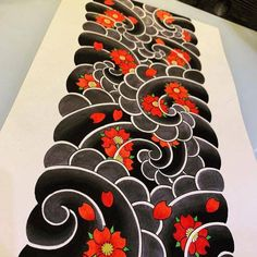 Japanese Flower Tattoo, Japanese Tattoo Designs, Japanese Sleeve Tattoos, Best Sleeve Tattoos, Japanese Flowers, Japanese Art, Body Art Tattoos, Koi Tattoo Design, Japan Tattoo Design