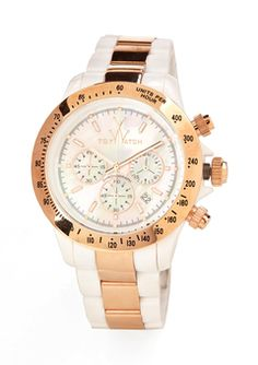 Toy watch white and rose gold