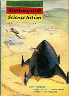 The Magazine of Fantasy and Science Fiction, July 1954. Cover art by Fred Kirberger.