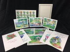 Vintage Stationary Current Reflections Marian Hirsch Garden Reflections 41 Piece
