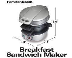 Hamilton Beach Breakfast Sandwich Maker on Silver - Software reviews Sandwich Maker Recipes, Breakfast Sandwich Maker, Croissant Sandwich, Mini Croissants, Dinner Sandwiches, Sandwich Ingredients, Hamilton Beach, Homemade Breakfast, Slice Of Bread