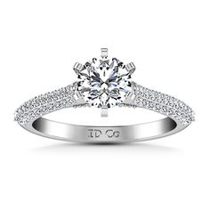#Valentines #AdoreWe #FrostNYC - #imaginediamonds Pave Round Diamond Engagement Ring Royal 14K White Gold - AdoreWe.com