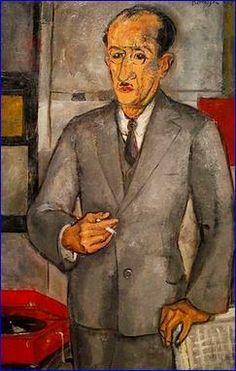 Piet Mondriaan by Gerard Hordijk - In 1927 gaat Hordijk naar Parijs, waar hij in een complex aan de Rue du Départ 26 gaat wonen, waar ook Mondriaan woont. In 1928 maakt hij een portret van Mondriaan, dit portret in olieverf is sinds 1971 in het bezit van het Gemeentemuseum Den Haag.