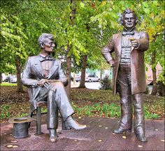 Lincoln-Douglas Debate Statues ~ Freeport, Illinois