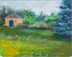 Blue Door, 8x10 oil by Annie Strack, $195