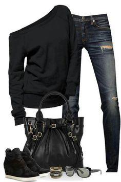 I'm a big fan of asymmetrical styles and I LOVE black