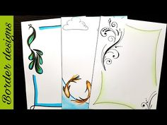 Another floral Design draw Border designs on paper for project work by easy designs for project project designs for school -------------------------. Boarder Designs, Page Borders Design, Cute Borders, Simple Borders, Zebra Painting, Fabric Painting, Art Drawings For Kids, Easy Drawings, Front Page Design