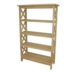 Unfinished Parawood Four-tier X-sided Shelf Unit   Overstock.com Shopping $165 ship unk