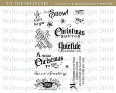 Compliments of the Season | Waltzingmouse Stamps