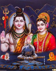 Lord Shiva and Parvati (via ebay: Indian_ash)
