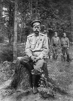 A photograph of Czar Nicholas II taken after his abdication in March 1917. One of the last photographs taken of Nicholas II, showing him at Tsarskoye Selo.