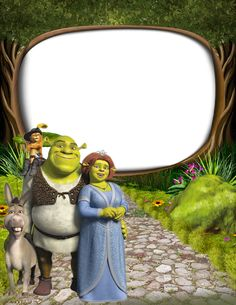 Shrek and Princess Fiona PNG Kids Frame