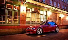M Coupe painting the town Imola Red