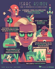 Isaac Asimov - La importancia de la ciencia ficción para la humanidad (Pictoline)