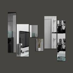 Foto principal de Espelho Decorativo em Acrílico Espelhado Retângulos Personalizáveis