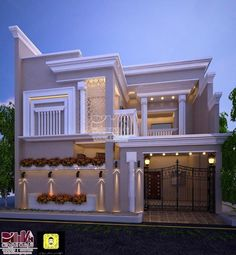 Top Modern House Design Ideas For 2021 - Engineering Discoveries House Outside Design, House Gate Design, Village House Design, Unique House Design, House Front Design, Cool House Designs, Modern Bungalow House, Modern House Plans, Modern Houses