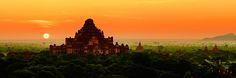 Sunrise over Dhammayangyi temple in Bagan, Burma.