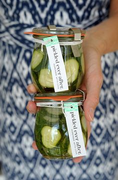 Homemade Pickles (With Printable Tag!) - Julep, tutorial by Alice & Lois