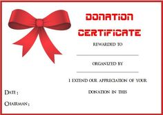 Best Donation Certificate Templates Images On Pinterest - Donation gift certificate template