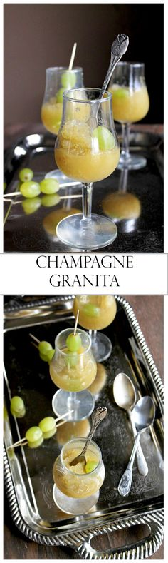 An elegant and refreshing treat made with Champagne, grapes, lemon juice, and sugar. Perfect for a NYE Party!