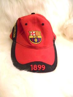 a4b46110d42 FCB BARCELONA 1899 Baseball Hat Cap Adjustable Futbol Soccer Red Black Gold   FCBarcelona  BaseballCap