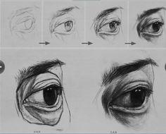 Art Practice Realistic Eye Drawing, Human Drawing, Life Drawing, Figure Drawing, Academic Drawing, Drawing Studies, Art Studies, Sketches Of Love, Anatomy Drawing
