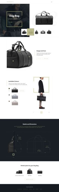 Troubadour Goods - clean and elegant product page Ui design concept by Kreativa Studio, on dribbble.