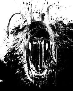 Изобр по > Злой Медведь Арт