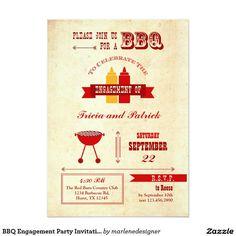 BBQ Engagement Party Invitation