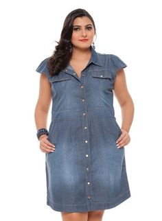 vestido plus size jeans 1